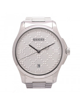Gucci Stainless Steel 38mm G Timeless Quartz Watch Silver by Gucci