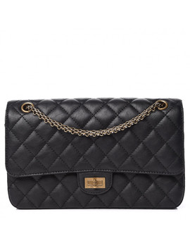 Chanel Crumpled Calfskin Quilted 2.55 Reissue 226 Flap Black by Chanel