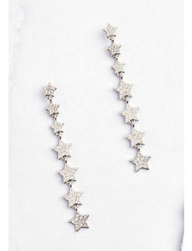 Star Light, Star Bright Drop Earrings by Modcloth