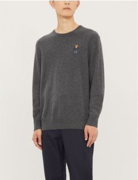 Bear Embroidered Merino Wool Jumper by Polo Ralph Lauren