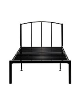 Metal Single Bed   Black by Asda