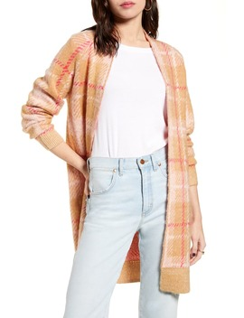 Plaid Long Cardigan by Bp.