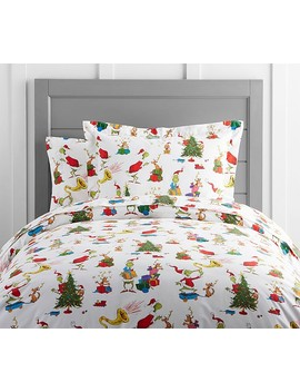 Dr. Seuss's The Grinch & Max™ Duvet Cover by Pottery Barn Kids