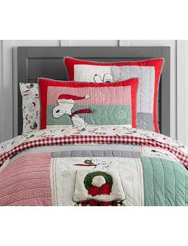 Peanuts® Holiday Quilt by Pottery Barn Kids