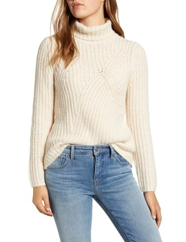 Traveling Ribbed Turtleneck Sweater by Lucky Brand