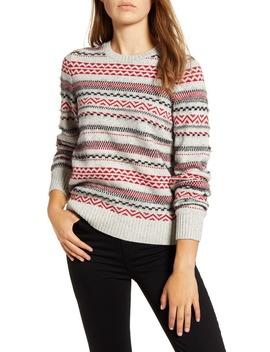 Stripe Fair Isle Cotton & Wool Blend Sweater by Lucky Brand