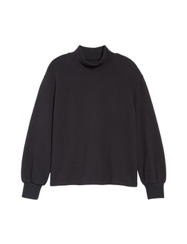 Mock Neck Bubble Sleeve Sweatshirt by Madewell