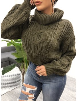 Ellie Sweater (Olive) by Laura's Boutique