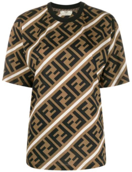 Diagonal Ff Motif T Shirt by Fendi