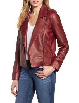 Leather Moto Jacket by Lucky Brand