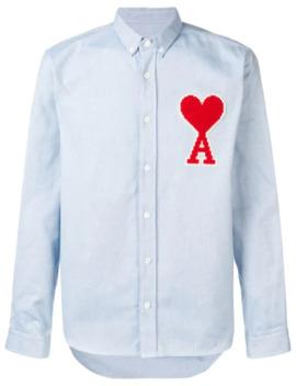 Button Down Shirt Ami De Coeur Patch by Ami Paris