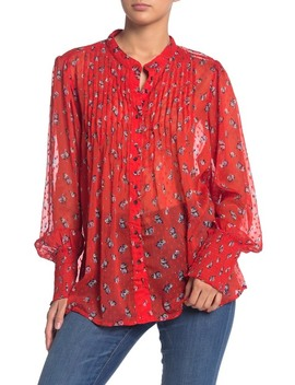 Flowers In December Floral Print Blouse by Free People