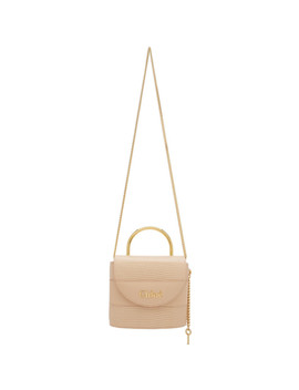 Pink Small Aby Lock Chain Bag by ChloÉ