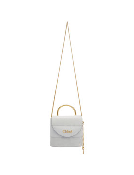 Blue Small Aby Lock Chain Bag by ChloÉ