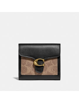 Tabby Small Wallet In Colorblock Signature Canvas by Coach