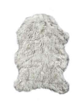Luxe Faux Fur Gordon Rug   2ft X 3ft   Gradient Grey by Kinetic