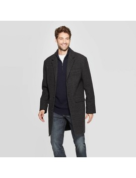 Men's Standard Fit Overcoat   Goodfellow & Co™ Dark Heather by Shop This Collection