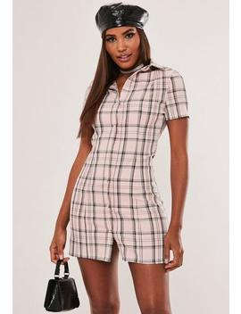 Hayden Williams X Missguided Pink Check Mini Dress by Missguided