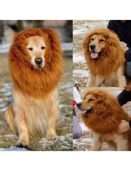 Pet Costume Lion Mane Wig For Dog Halloween Cloth Festival Fancy Dress Up by Wish