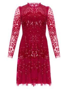 Aurora Sequin Lace Sheath Dress by Needle & Thread