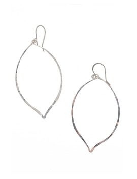 Lotus Hammered Sterling Silver Earrings by Teressa Lane Jewelry