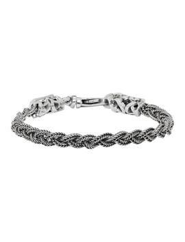 Silver Braided Bracelet by Emanuele Bicocchi