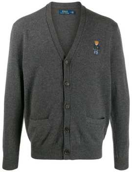 Embroidered Bear Cardigan by Polo Ralph Lauren