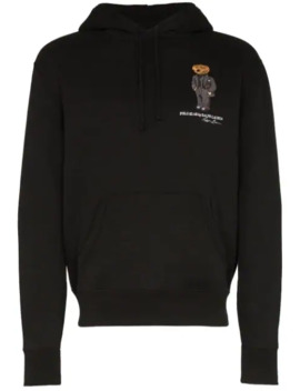 Embroidered Bear Logo Hoodie by Polo Ralph Lauren