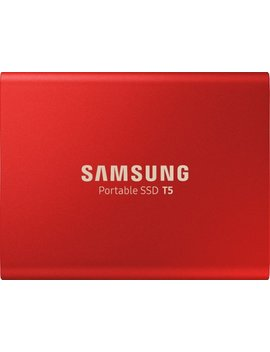 T5 1 Tb External Usb Type C Portable Solid State Drive   Metallic Red by Samsung