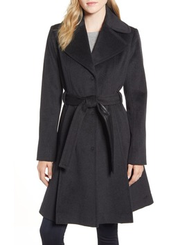 Single Breasted Wool Blend Trench Coat by Via Spiga