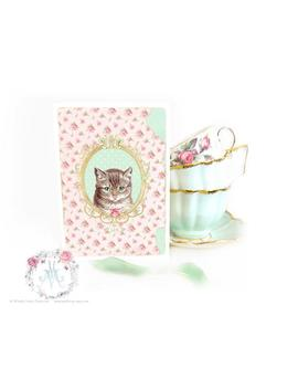 Cat Card, With Love, Vintage Style, Tabby Cat, Birthday Card, Friendship Card, Blank All Occasion Card by Etsy