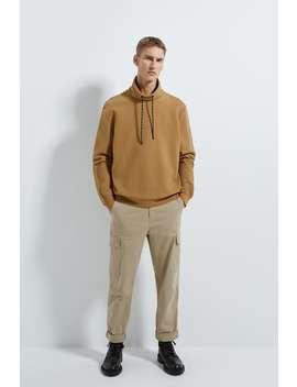 Ottoman Textured Sweatshirt by Zara