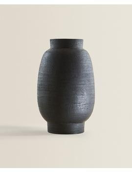 Large Terracotta Vase  Vases   Decoration   Living Room by Zara Home