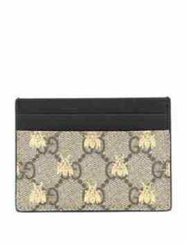 Gg Supreme Bees Card Case by Gucci