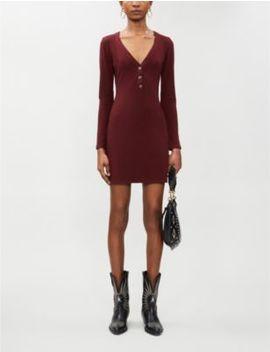 Jani Ribbed Stretch Jersey Mini Dress by Reformation