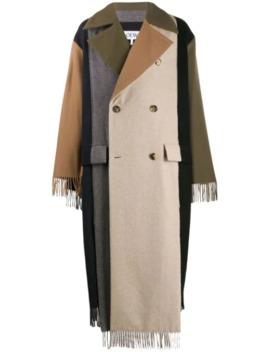 Frakke I Tørklædestil Med Paneler by Loewe
