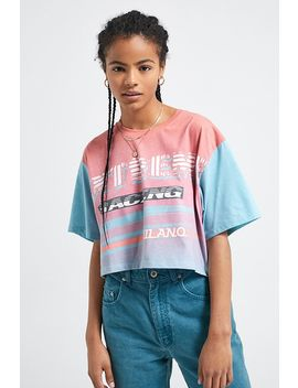 Uo Extreme Racing Cropped T Shirt by Urban Outfitters