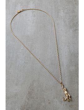 Mirabelle – Vergoldete Halskette Mit Anhänger Mit Affendesign by Mirabelle Shoppen