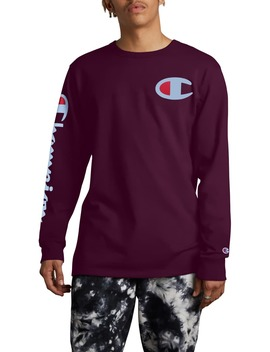Heritage Big C Logo Long Sleeve T Shirt by Champion