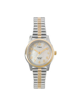 Timex® Womens Mother Of Pearl Expansion Watch by Timex