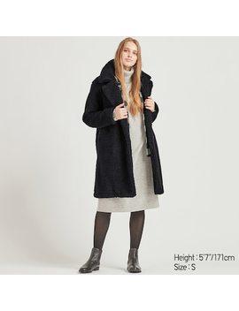 Women Fleece Lined Tailored Coat (38) by Uniqlo