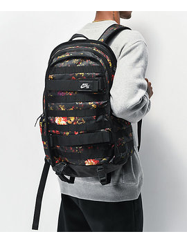 Nike Sb Rpm All Over Floral Black Backpack by Nike Sb