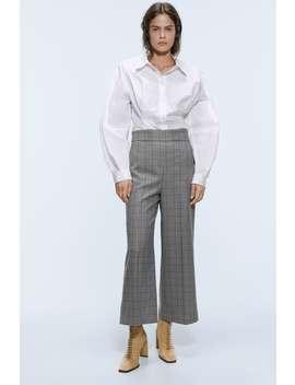 Pantaloni Culotte A Quadri by Zara