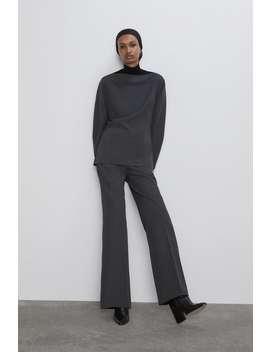 Pantaloni Dritti Con Pince by Zara