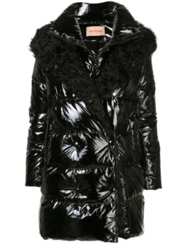 Hooded Fur Trimmed Coat by Yves Salomon