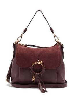 Joan Small Suede And Leather Shoulder Bag by See By Chloé