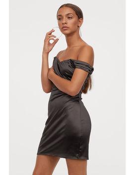 Short Off The Shoulder Dress by H&M