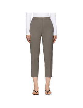 Grey Wool Taylor Trousers by Tibi
