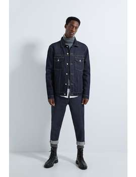 Raw Denim Jacket by Zara