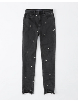 High Rise Super Skinny Knöcheljeans by Abercrombie & Fitch